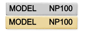 NP100 - SINGLE LINE NAMEPLATE