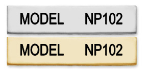 NP102 - SINGLE LINE NAMEPLATE