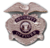 W58 - Security Officer Hat Badge