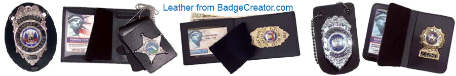 Leather accessories for your badge from AFI